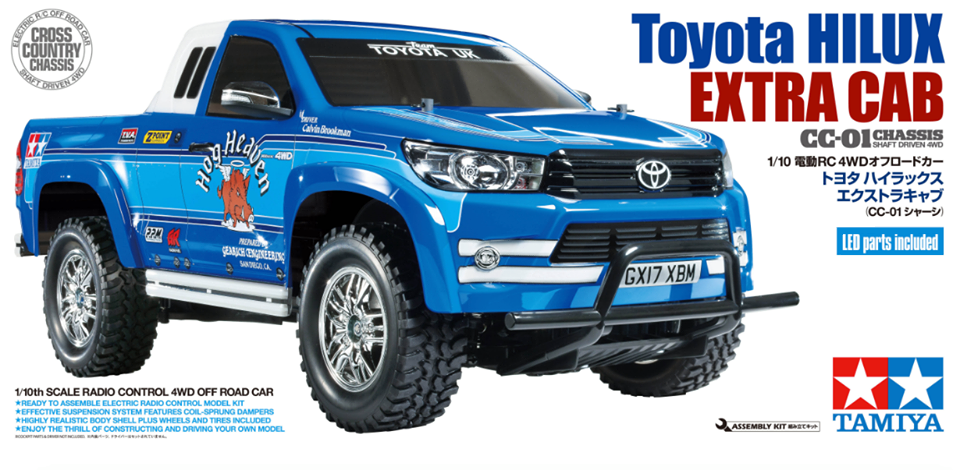 Tamiya 58663 Toyota Hilux Extra Cab Cc 01 4wd Rc Kit Complete Deal Bundle Part Number Or Barcode 4950344586639 Stock Level Good