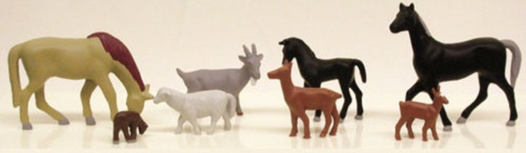Model Power MPW5726 Assorted Livestock - HO Scale Figures (Suit