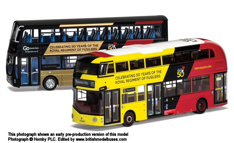 Corgi OM46620 Fifty Years of the Royal Regiment of Fusiliers Bus Twin Pack