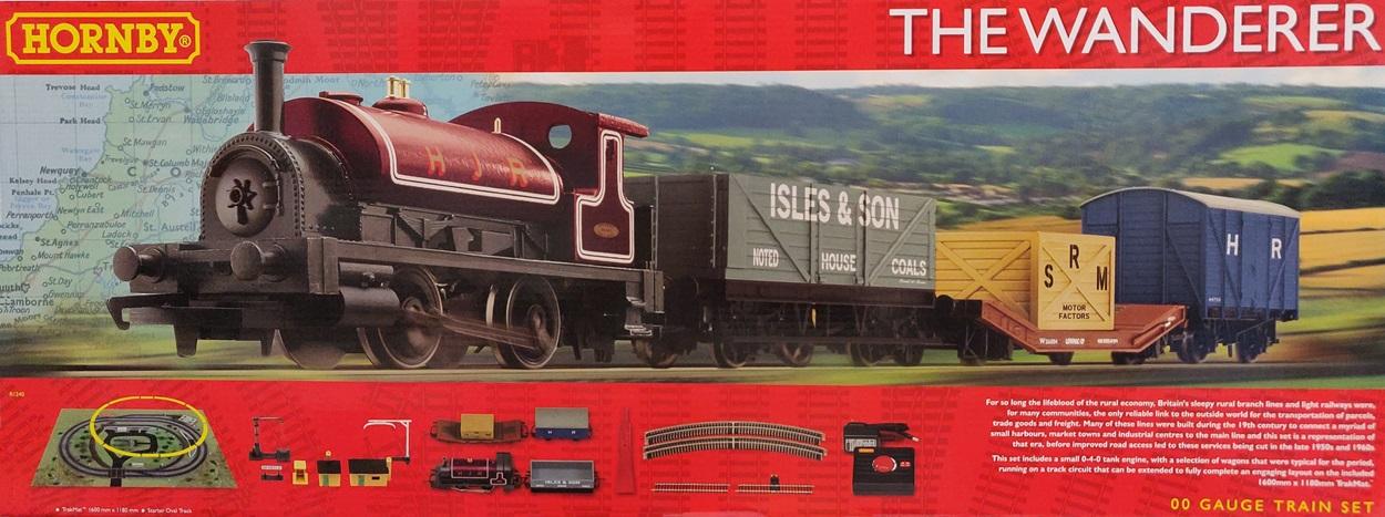 Hornby R1240 The Wanderer Complete Starter Train Set, Time