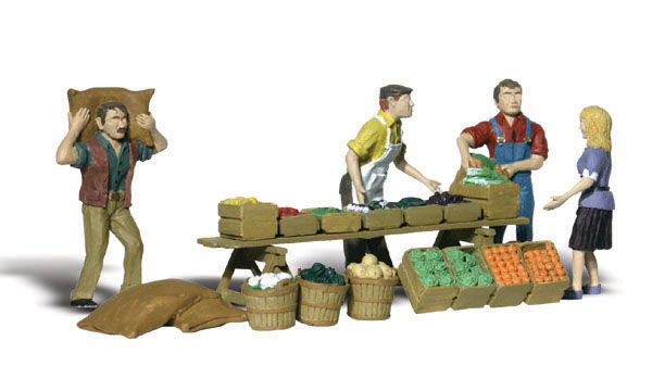 New Woodland HO Scale 16 People Train Figures A1958