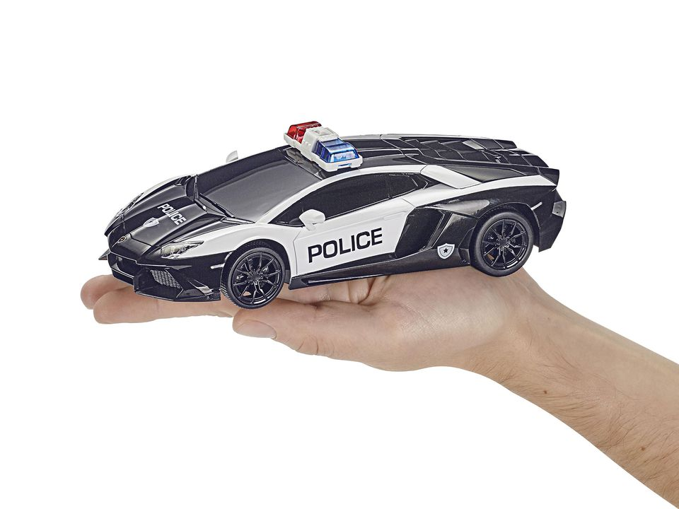 This Ready To Run 1:24 Scale Lamborghini Police Car Features A Powerful  Electric Motor, Wide Best Grip Tyres And An Easy To Handle Two Channel  27MHz Remote ...